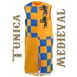 Tunica amarilla y azul Medieval.