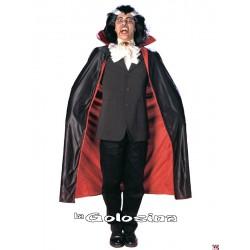 Capa dracula negra roja 120 cm de largura