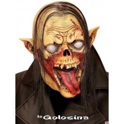 Mascara cabeza completa Zombie vampiro pelo