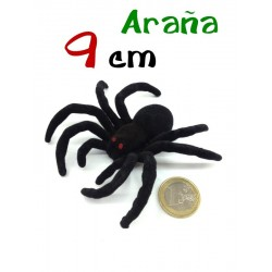 Arana aterciopelada negra 9 cm