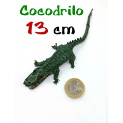 Cocodrilo goma verde de 13 cm