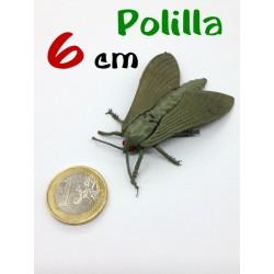 Polilla gris de goma 6 cm