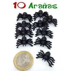 Pack de 10 mini arañas negras