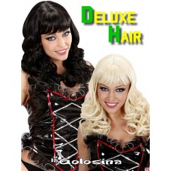 Peluca Katy  Deluxe Hair medio ondulada.