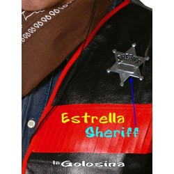 Estrella de metal sheriff
