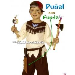 Punal con funda indio explorador