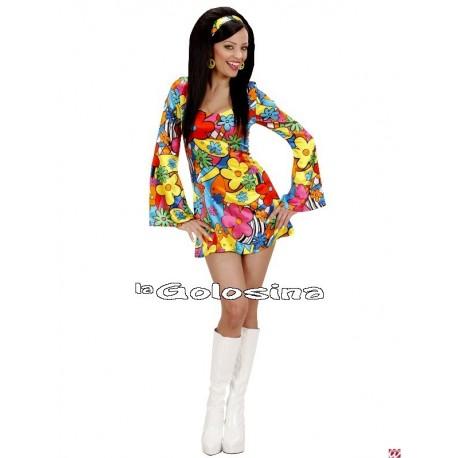 Disfraz Ad. Flower Power Hippie.