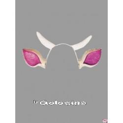 Diadema Orejas de vaca con cuernos