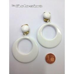 Pendientes plastico 6,5 cm