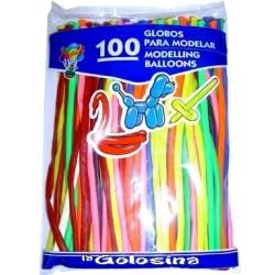 Globos fiesta 100 U  Globos moldear 5 cm