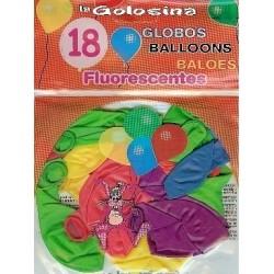 Globos fiesta 18 U Globos fluorescentes