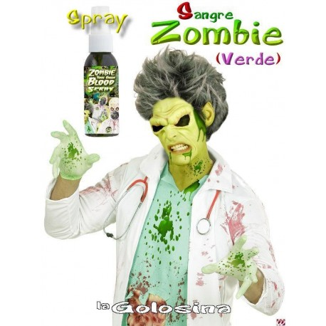 Maquillaje SPRAY Gel sangre verde Zombie 48 ml
