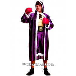 Disfraz Ad. Boxeador pechera musculosa.