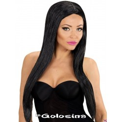 Peluca negra glamour