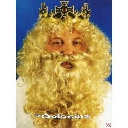 Peluca y barba Rey Rubia.
