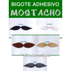 Bigote adhesivo mostacho
