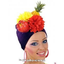 Gorro tela con frutas