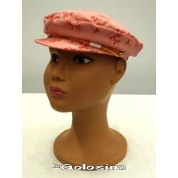 Gorra de tela con visera