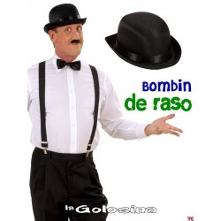 Somb. Bombin de raso negra