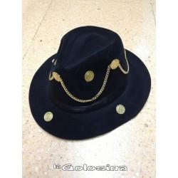 Sombrero de Caldedero con monedas y cadena