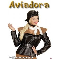 Disfraz Ad. Aviadora retro.