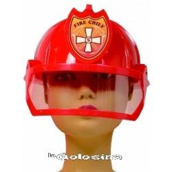 Casco Bombero rojo.