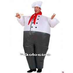 Disfraz Ad. Cocinero Hinchable
