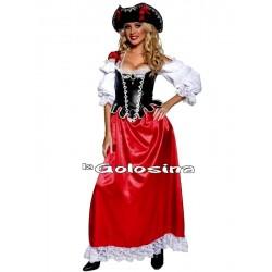 Disfraz Ad. Pirata falda larga