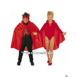 Capa infantil roja 90 cm de largura