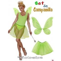 Set de Campanilla falda y alas