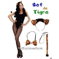 Set de Tigre diadema, pajarita, rabo