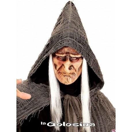 Media mascara de brujo con pelo