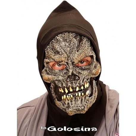 Mascara espuma y latex media cara capucha Grim Reaper