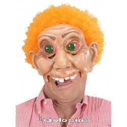 Media careta monstruo pelo naranja rizado