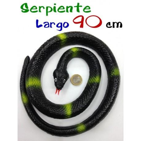 Serpiente negra enrollada 90 cm