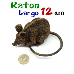 Raton plastico duro marron 12 cm