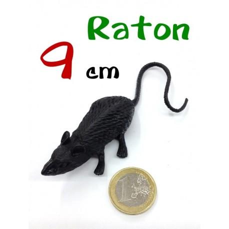 Raton de plastico negro 9 cm