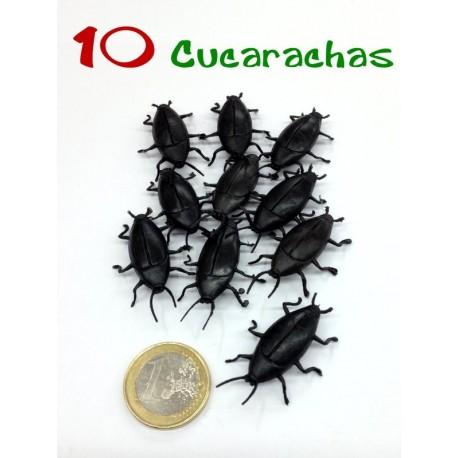 Pack de 10 cucarachas negras