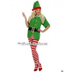Disfraz Ad. Elfo (ayudante Papa Noel).