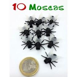 Pack de 10 moscas de alas transparentes