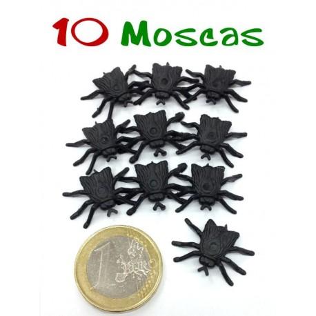 Pack de 10 moscas negras