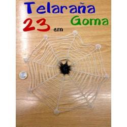 Telarana con arana de goma 23 cm diametro