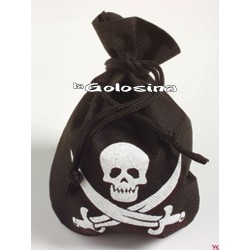 Bolso pirata negro.