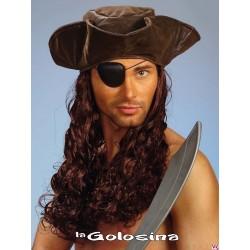 Peluca con gorro pirata.
