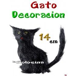 Gato decoracion 14 cm