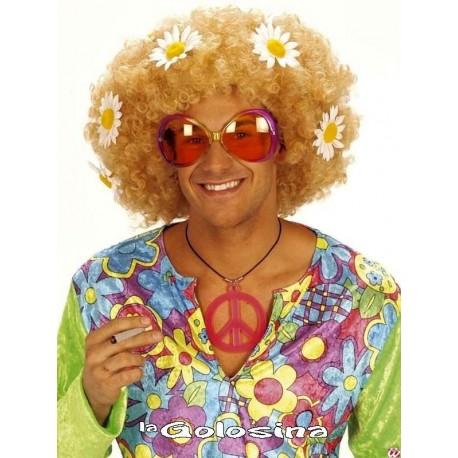 Collar Paz hippie fosforescente.