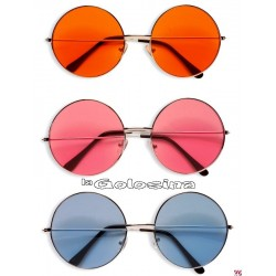 Gafas redondas hippie cristal.