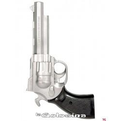 Pistola plastico plateada