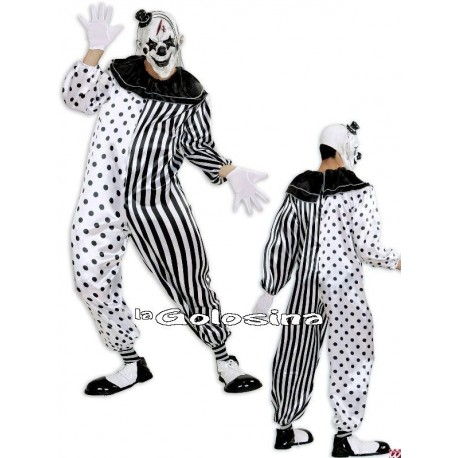 Disfraz Ad. Pierrot Asesino.
