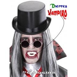 Dientes - Colmillos mas 2 dientes vampiro
